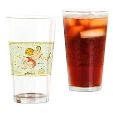 Vintage Celestial Zodiac, Aquarius Drinking Glass