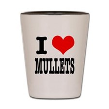 I Heart (Love) Mullets Shot Glass