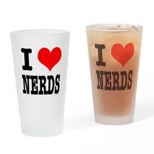 I Heart (Love) Nerds Pint Glass