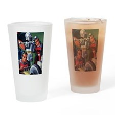 Vintage Science Fiction Robot Drinking Glass