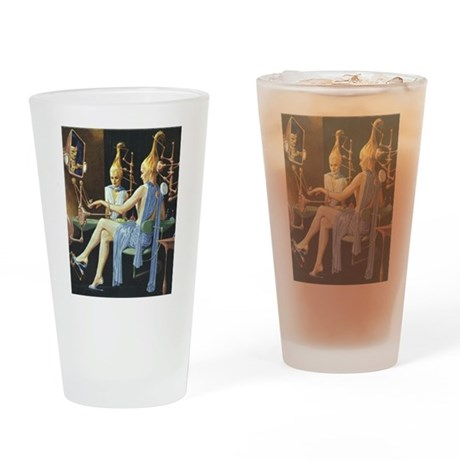 Vintage Science Fiction Drinking Glass
