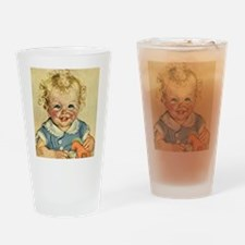 Vintage Cute Baby Drinking Glass