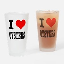I Heart (Love) Oysters Pint Glass