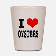 I Heart (Love) Oysters Shot Glass