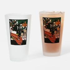 Vintage Fancy Foods Drinking Glass
