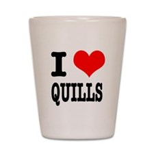 I Heart (Love) Quills Shot Glass