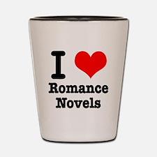 I Heart (Love) Romance Novels Shot Glass