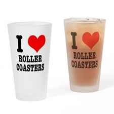 I Heart (Love) Roller Coaster Pint Glass
