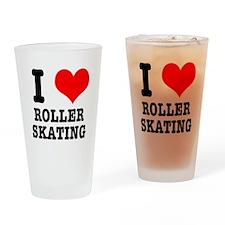 I Heart (Love) Roller Skating Pint Glass