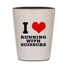 I Heart (Love) Running With S Shot Glass