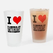 I Heart (Love) Saturday Pint Glass