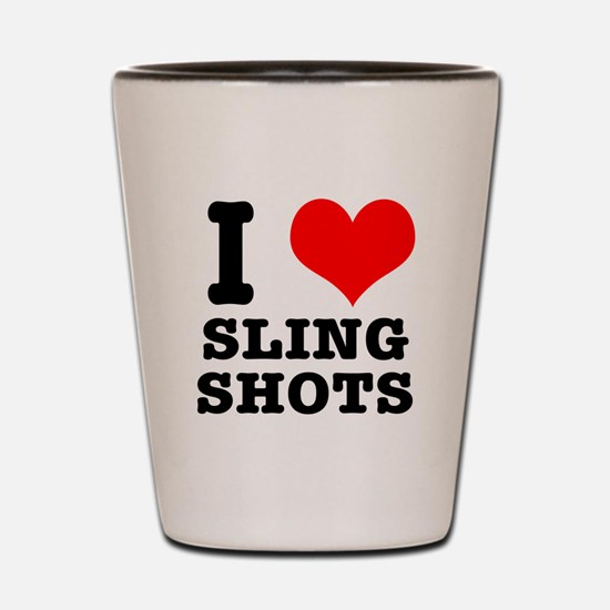 I Heart (Love) Sling Shots Shot Glass
