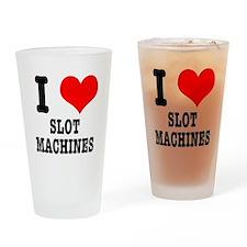 I Heart (Love) Slot Machines Pint Glass