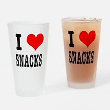 I Heart (Love) Snacks Pint Glass