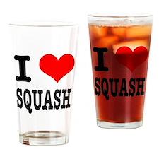 I Heart (Love) Squash Pint Glass