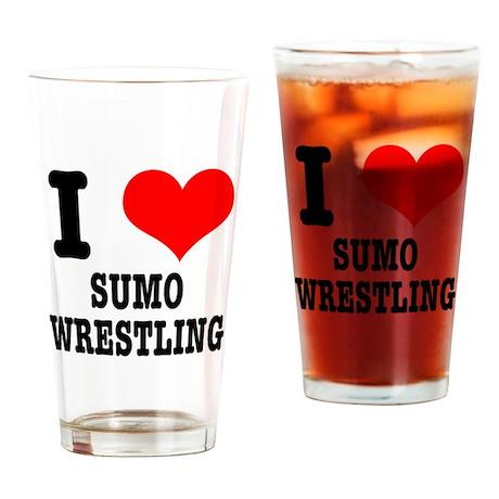 I Heart (Love) Sumo Wrestling Pint Glass