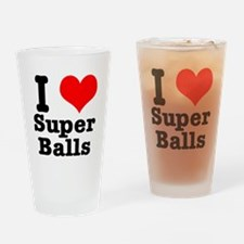 I Heart (Love) Super Balls Pint Glass