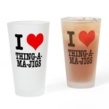 I Heart (Love) Thing-A-Ma-Jig Pint Glass