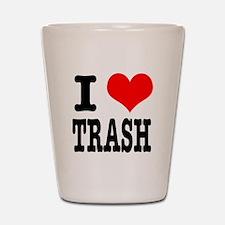 I Heart (Love) Trash Shot Glass