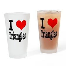 I Heart (Love) Triangles Pint Glass