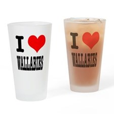I Heart (Love) Wallabies Pint Glass
