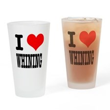 I Heart (Love) Whining Pint Glass