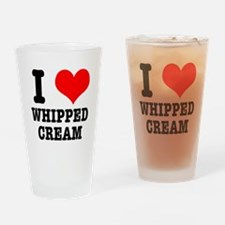 I Heart (Love) Whipped Cream Pint Glass