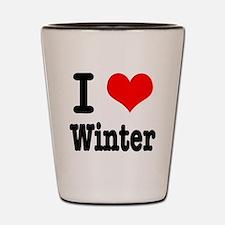 I Heart (Love) Winter Shot Glass