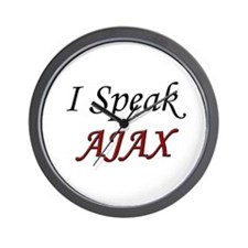 """""""I Speak AJAX"""" Wall Clock"""