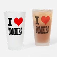 I Heart (Love) Zombies Pint Glass
