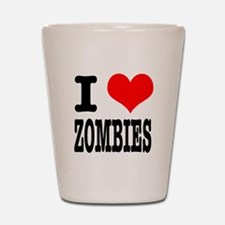 I Heart (Love) Zombies Shot Glass