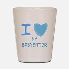 Blue I Heart (Love) My Babysi Shot Glass