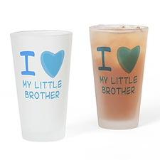 Blue I Heart (Love) My Little Pint Glass
