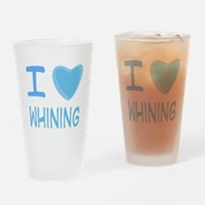 Blue I Heart (Love) Whining Pint Glass