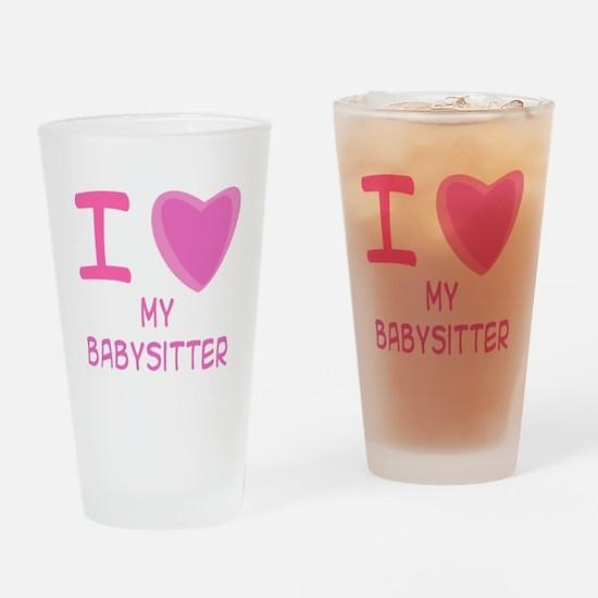 Pink I Heart (Love) My Babysi Pint Glass