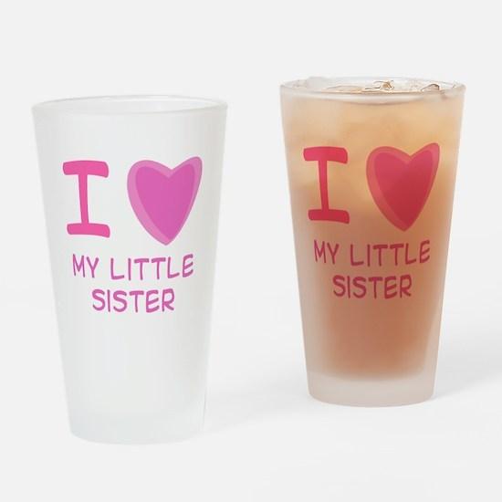 Pink I Heart (Love) My Little Pint Glass