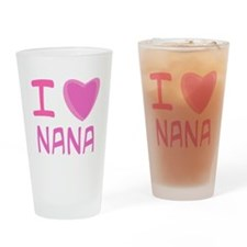 Pink I Heart (Love) Nana Pint Glass