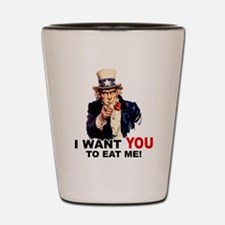 Want You To Eat Me Shot Glass