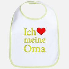 I Love Grandma (German) Bib