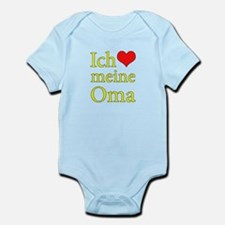I Love Grandma (German) Infant Bodysuit