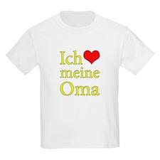 I Love Grandma (German) T-Shirt