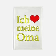 I Love Grandma (German) Rectangle Magnet