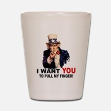 Want You To Pull My Finger Shot Glass