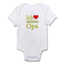 I Love Grandpa (German) Infant Bodysuit