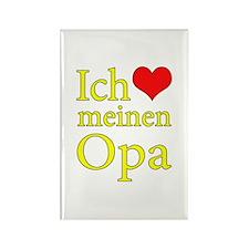 I Love Grandpa (German) Rectangle Magnet