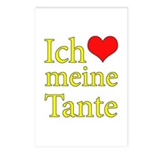I Love Aunt (German) Postcards (Package of 8)