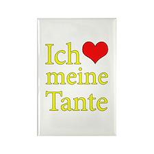 I Love Aunt (German) Rectangle Magnet