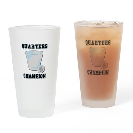 Quarters (Drinking Game) Pint Glass