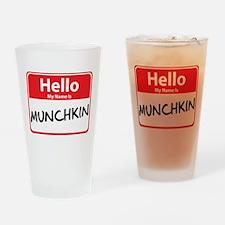 Hello My Name is Munchkin Pint Glass