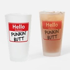 Hello My Name is Punkin' (Pum Pint Glass